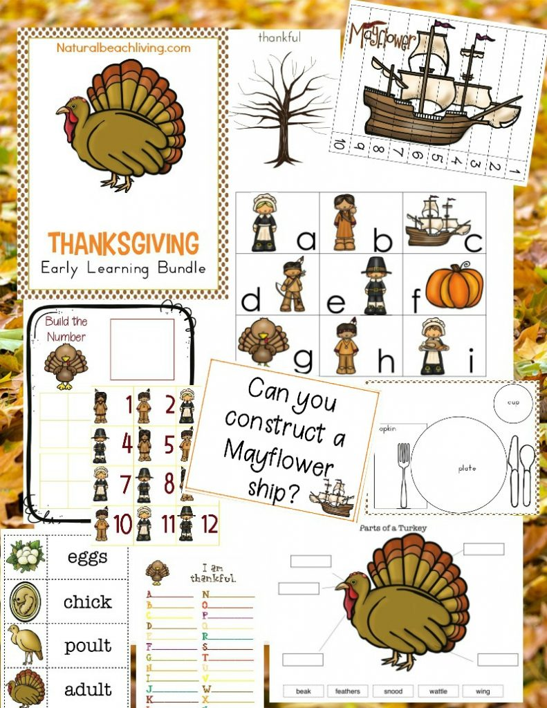 Kindergarten Thanksgiving Theme and activities, Preschool Thanksgiving Theme