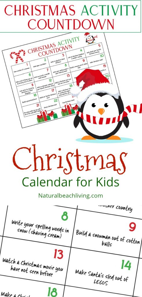 Ultimate Christmas Calendar Countdown Kids Will Love, Christmas Activities for Kids, Free Christmas Countdown Calendar, Free Advent Calendar for Kids, Fun Christmas Activities, free Christmas printable, #christmas #christmasactivities #christmasprintables