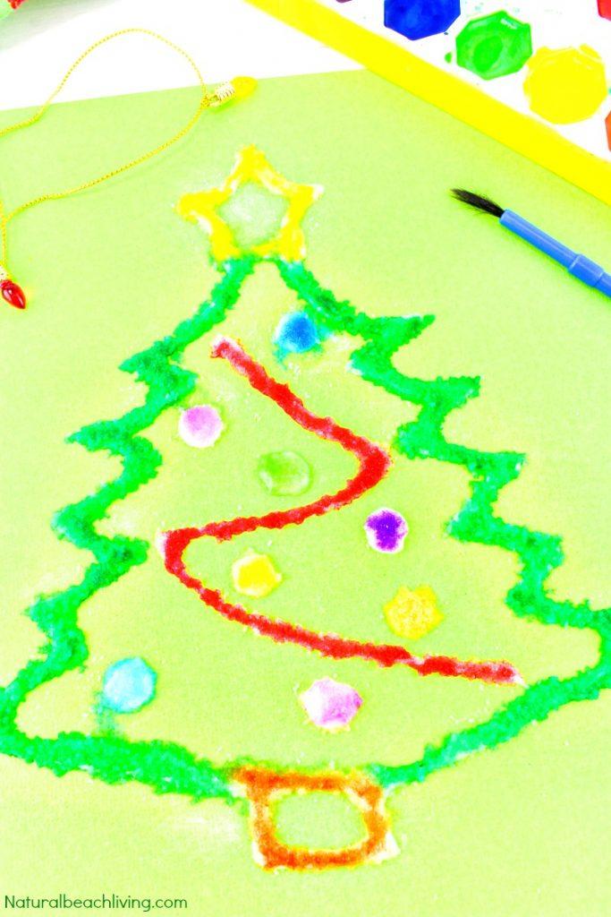 how to make christmas salt painting with kids natural beach living christmas salt painting with kids
