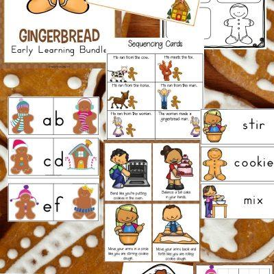 Gingerbread Kindergarten and Preschool Theme Lesson Plan