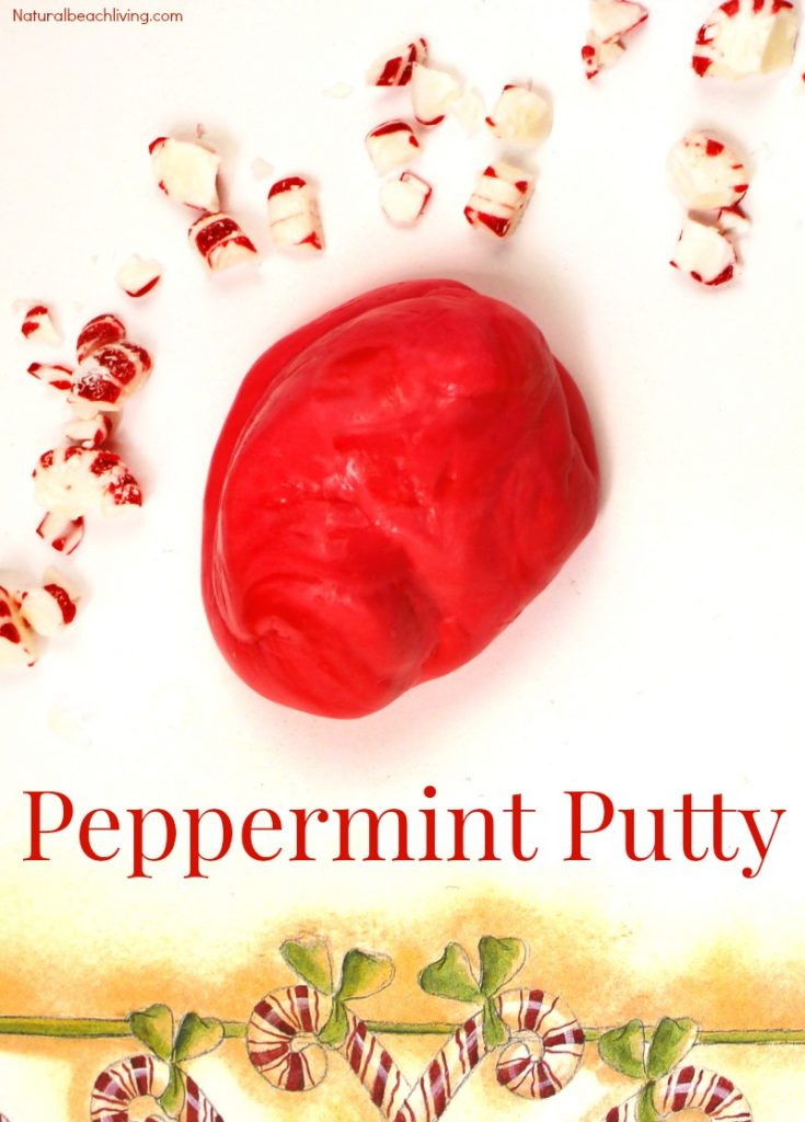 How to Make Peppermint Putty, How to Make Putty, Homemade Thinking Putty, DIY Putty, Stress Putty, Christmas Sensory Play, Scented Putty, Easy Putty Recipe #Thinkingputty #sensoryplay #Christmas #sensoryfun #sensory #sensoryprocessingdisorder
