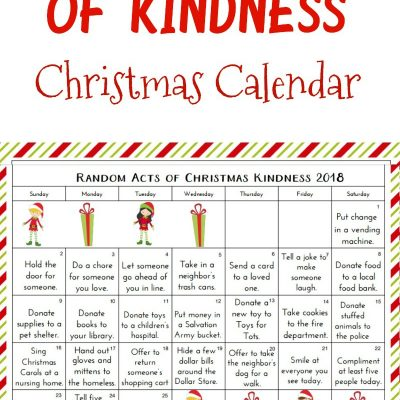 Random Acts of Kindness Christmas Calendar – Kindness Advent Calendar