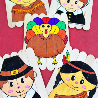 Thanksgiving Preschool Activities – DIY Thanksgiving Puzzles Free Template