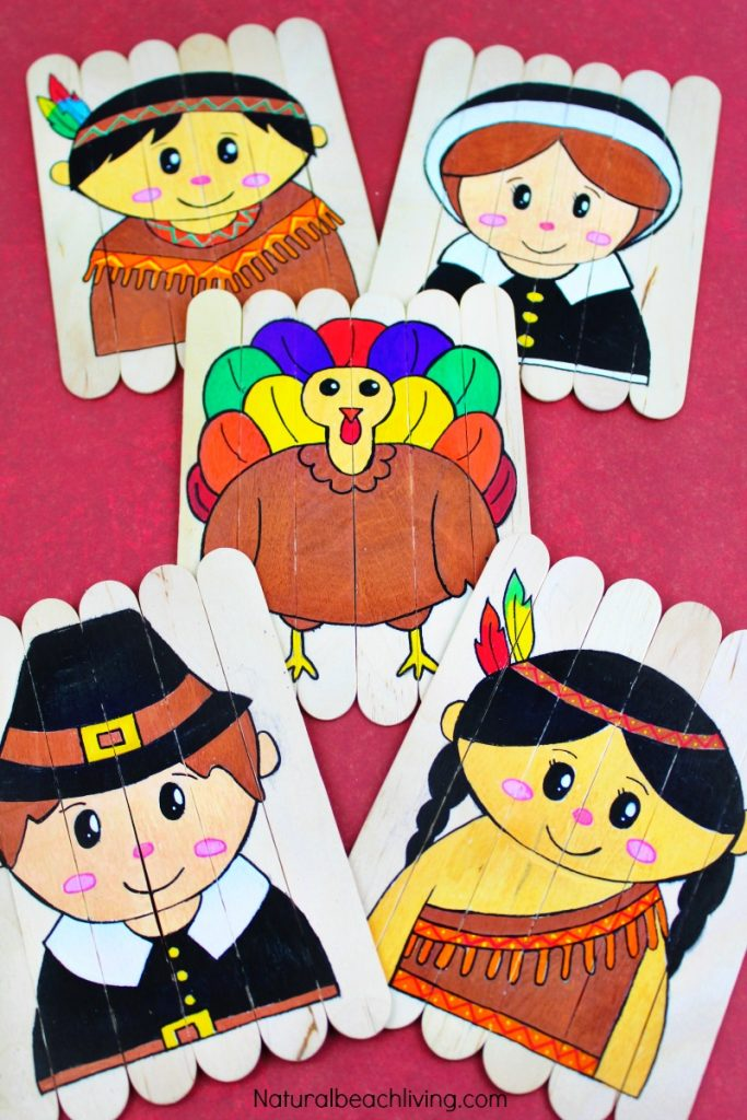photograph relating to Thanksgiving Puzzles Printable Free referred to as Thanksgiving Preschool Things to do - Do it yourself Thanksgiving Puzzles