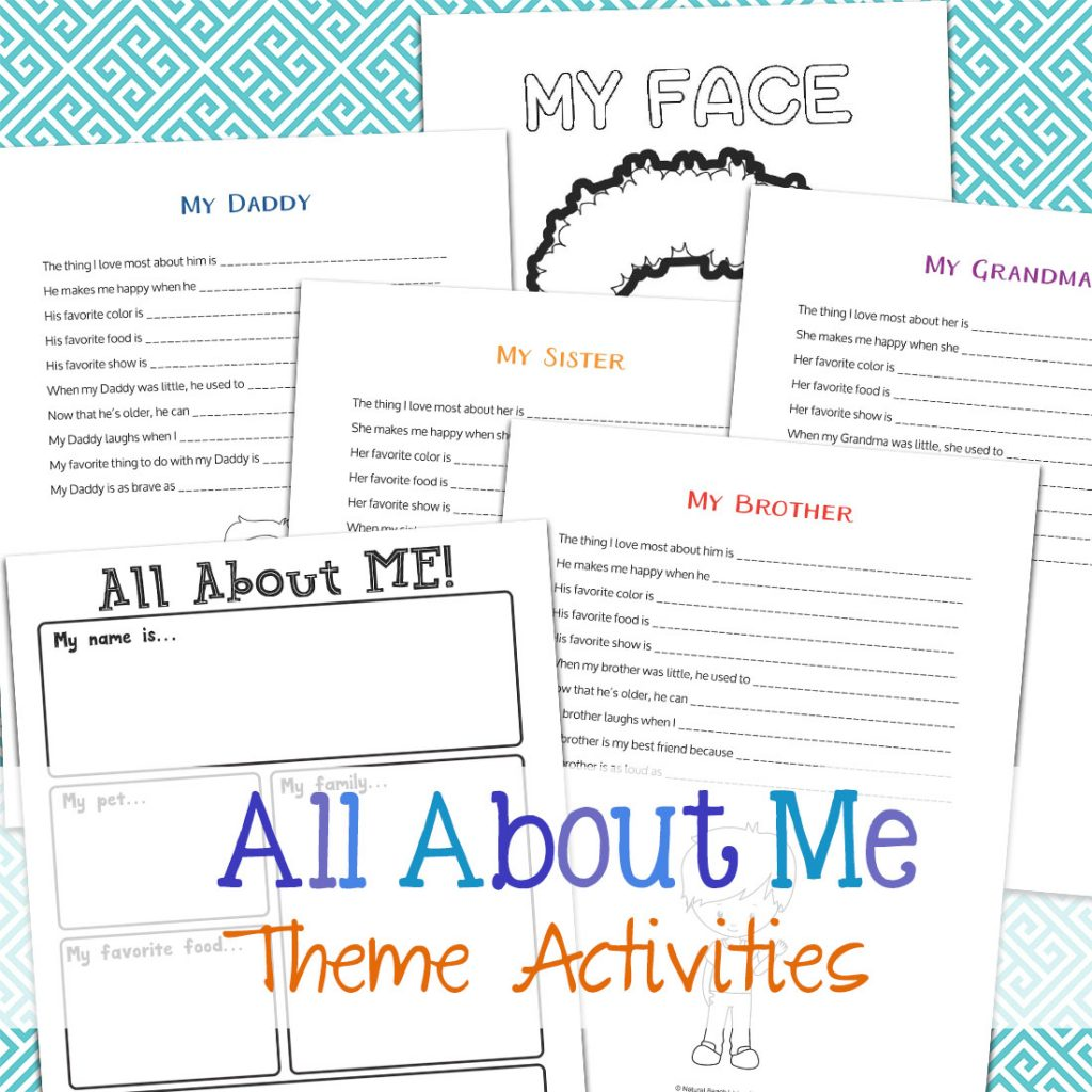 The Best All About Me Activity for Preschool and Kindergarten, All About Me Preschool Theme Activities and All About Me Kindergarten Unit, Fun All About Me Family Crafts, Preschool Free All About Me Theme Printables, Handprints and Footprints crafts for toddlers and preschool, Great Preschool Theme