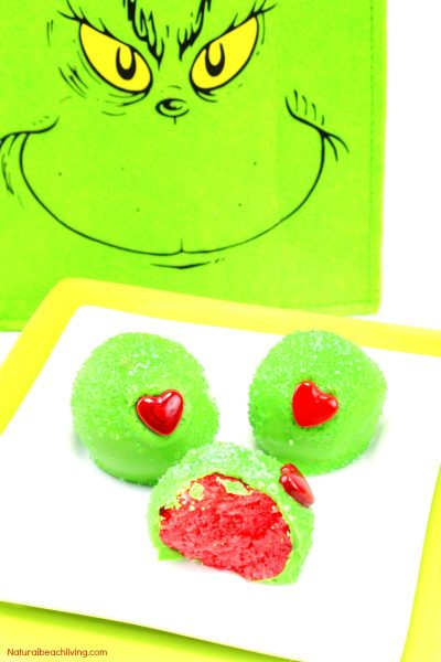 Grinch Snacks – Grinch Christmas Cake Balls Everyone Loves
