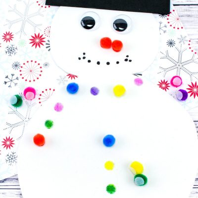 Snowman Color Matching Activity for Preschool & Toddlers