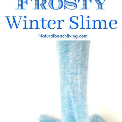Make Easy Frosty Winter Slime Recipe for Kids