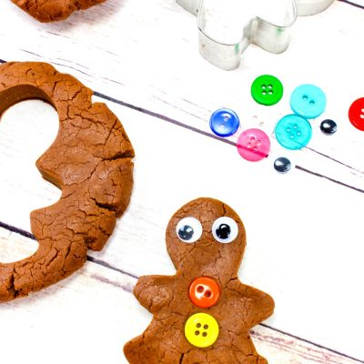 Gingerbread Playdough Recipe – No Cook No Cream of Tartar Homemade Playdough
