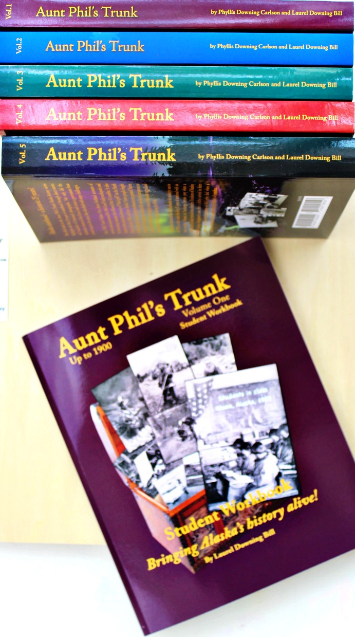 Aunt Phil's Trunk Alaska History Homeschool Curriculum, Great books for homeschool history, learning through books and stories. Real living books that make you feel like you can see what is going on at that time. Alaska History