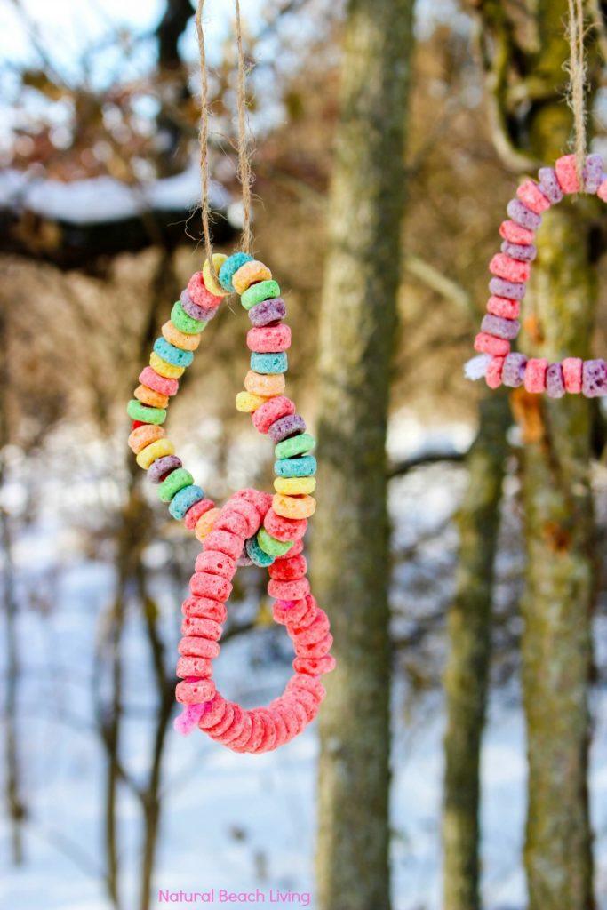 Easy Kid Made Bird Feeder Ornaments Heart Bird Feeder Crafts