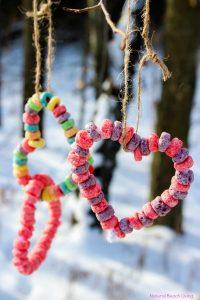 Kid Made Bird Feeder Ornaments Heart Bird Feeder Crafts