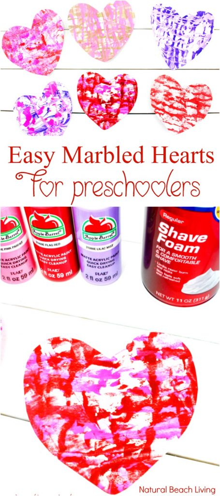 The Best Shaving Cream Art Kids Love, Marbled Paper Hearts, Easy art for preschoolers, DIY Marbled Paper, Shaving cream art for toddlers, Shaving cream marble art projects, Process art for kids, Shaving cream sensory play, Valentine's Day Art for kids, Homemade Valentine's Day cards, #Valentinesday #kidsactivities #preschoolcrafts #artsandcrafts #sensoryplay