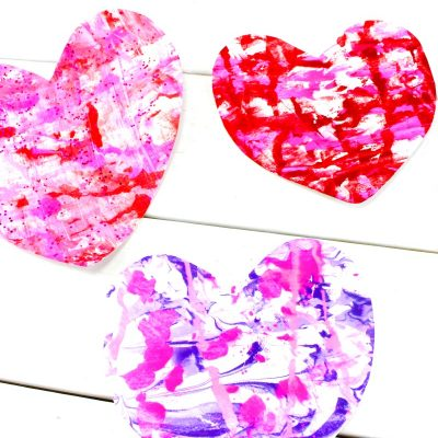 Shaving Cream Art Kids Love – Valentine Marbled Hearts for Preschoolers