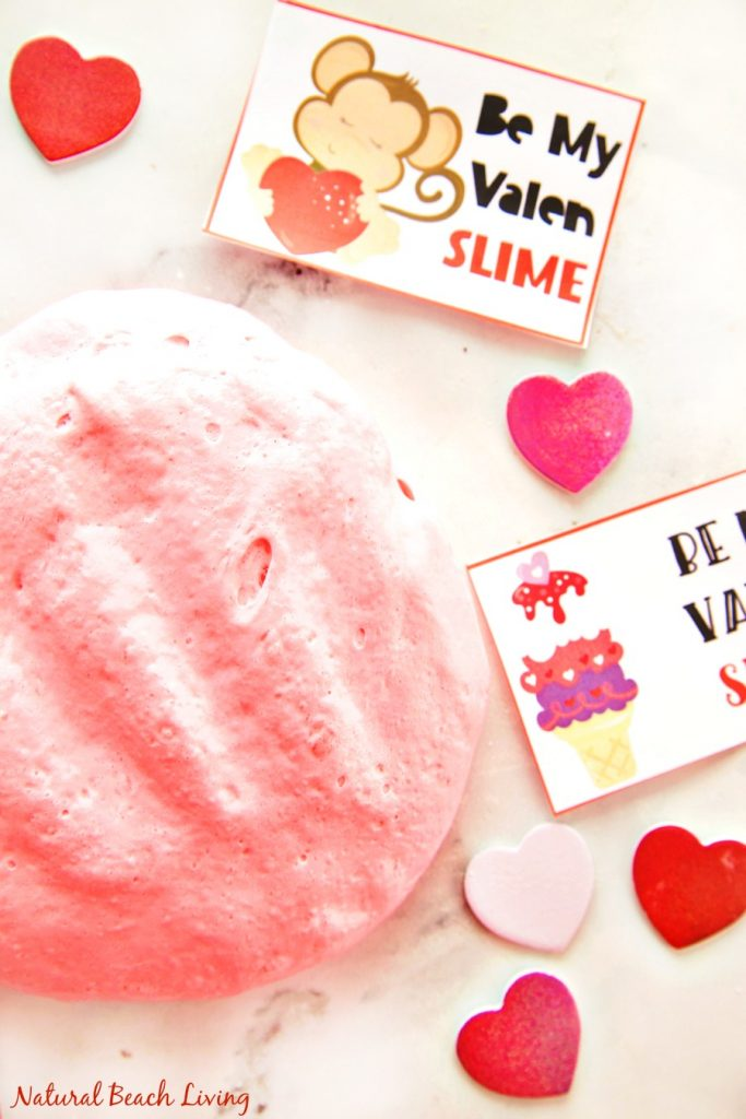 Slime, Slime Recipe, Valentines Slime recipes, The Best Fluffy slim, Free Valentine's Day cards, #SLIME #Valentinesday