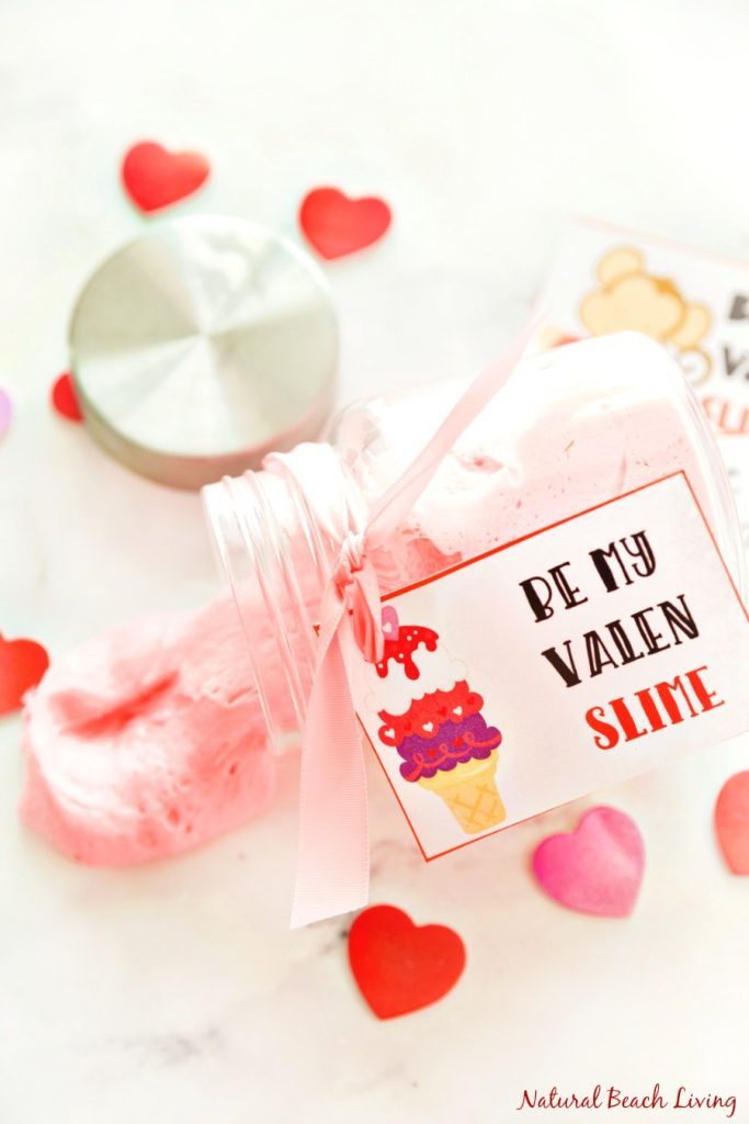 The Best Valentine's Day Fluffy Slime with free Valentine's Printables, Fluffy Slime, Slime Recipe with glue, Slime recipe without Borax, Best Slime Recipe, Homemade Slime, Slime, Slime Recipes, Fluffy Slime Recipe, Slime Recipe with Contact Solution, Easy Fluffy Slime Recipe, Fluffy Slime Videos, Valentine's Day Printables, Non Candy Valentine's, Free printables #Valentinesday #Slime #Fluffyslime #slimerecipe #slimerecipes #slimevideo