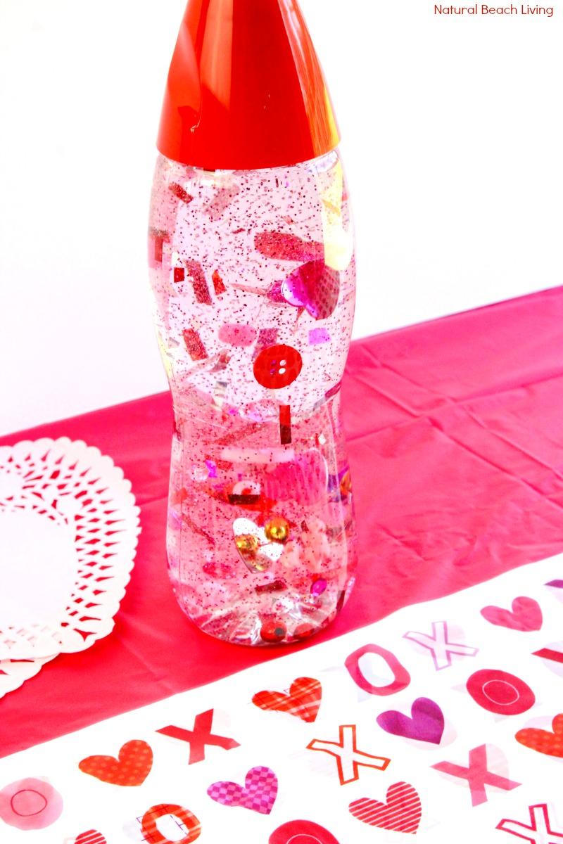 How to Make Valentines Sensory Bottles Kids Love