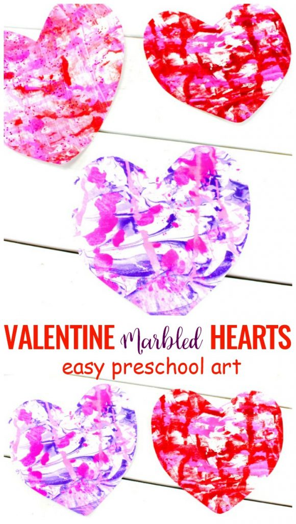 The Best Valentine Crafts for preschoolers, This is a simple idea for Valentine's Day and an Easy Art for Preschoolers, You only need  2 ingredients and you'll have Shaving Cream Art, Marbled Paper Hearts, Have fun with Valentine's day idea Shaving cream marbling art projects, Process art for preschoolers, Valentine's Day Art for kids, Homemade Valentine cards