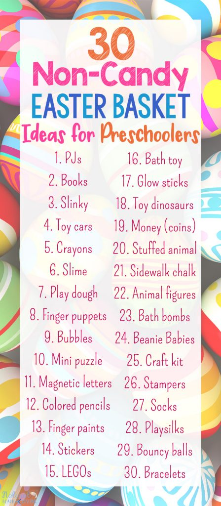 30 Non Candy Easter Basket Ideas For Preschoolers