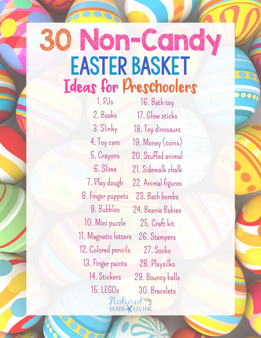 30+ Non Candy Easter Basket Ideas for Preschoolers