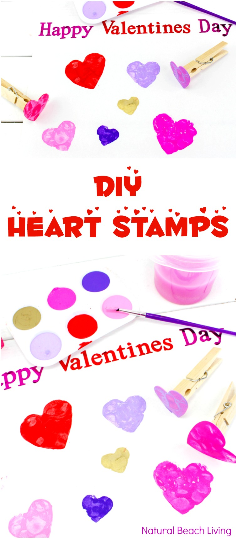 DIY Heart Stamps Make Perfect Preschool Heart Crafts, Easy Heart Art for Valentine's Day, Preschool Valentines Crafts, Fine Motor Activities for toddlers and preschoolers, Easy Preschool Art Projects, Fun Kindergarten and Preschool heart crafts, February Preschool Themes, Hands on activities for kids #preschoolcrafts #Valentinesday