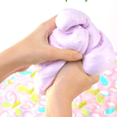 Make Super Fluffy Slime Recipe with Contact Solution