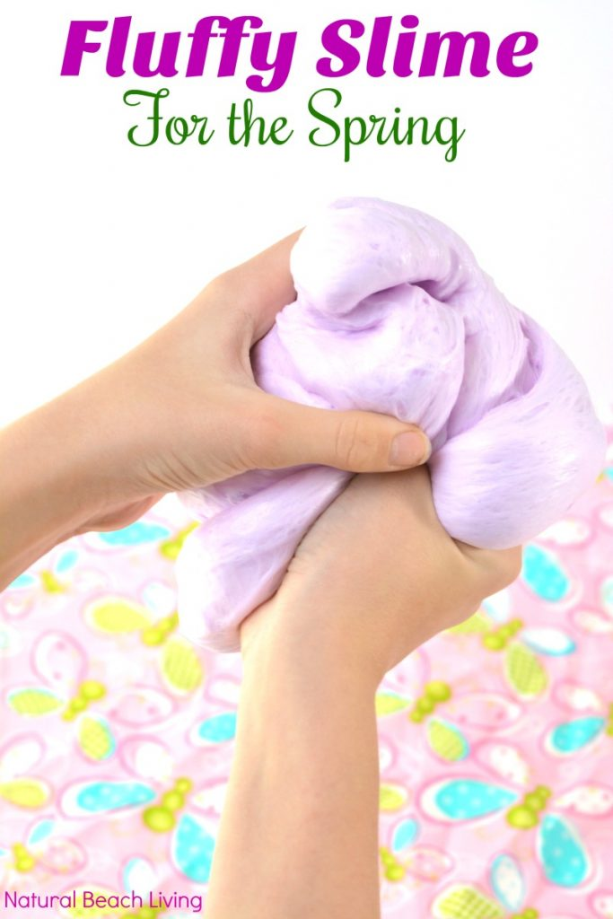 make super fluffy slime recipe with contact solution natural beach