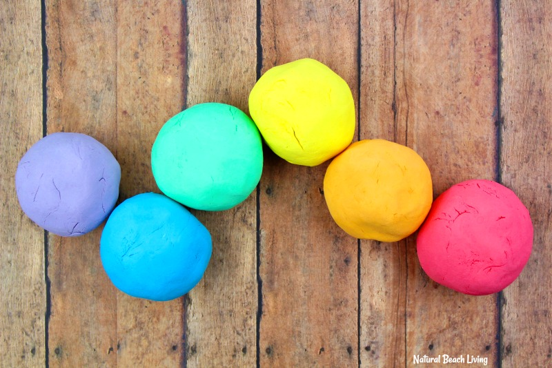How to Make Shaving Cream Play dough Recipe - Rainbow Foam