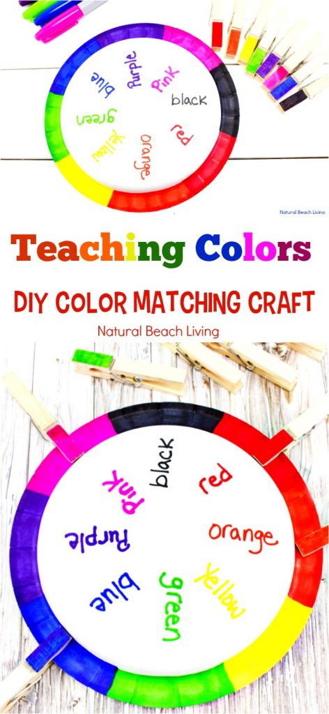 Teaching Colors Activities, DIY Color Matching Craft, Teaching Colors, Teaching Color Activities to Preschoolers, Color Sorting Activities, Sorting Colors Activities, Color Matching for toddlers, DIY Color Craft, Color Matching Crafts, Color Activities for Preschool, Hands-on Learning Activities to help teach kids about COLORS in Preschool and Kindergarten. #coloractivities #craftsforkids #preschoolactivity #toddlers