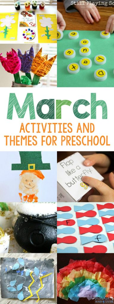 25+ Fun March Preschool Activities and Themes for Preschool, March Activities, March Themes, Hundreds of Preschool Themes and Lesson Plans, Spring Preschool Plans, Dr. Seuss Printables, St. Patrick's Day Crafts, March Preschool Themes, Preschool Lesson Plans Theme by Month,  Montessori Activities, Spring Montessori Activities, March Preschool Crafts and Ideas, Kindergarten Activities