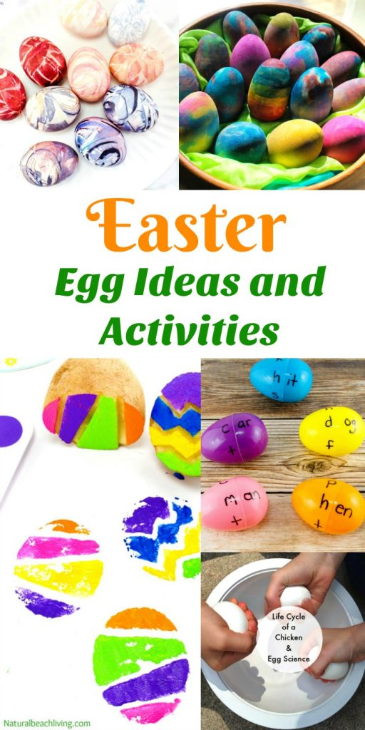 100+ Easter Ideas and Activities - Easter Activities for Kids and Families, Easter Crafts for Kids, Easter Recipes, Easter Basket Ideas, Non Candy Easter Basket Ideas, Easter Slime Ideas, Easter Egg Word Families, Easter Sensory Play, Candy Box Easter Basket, Easter Egg Stamping, No Candy Easter Basket Ideas, Spring Themes, Spring Activities, Montessori Easter