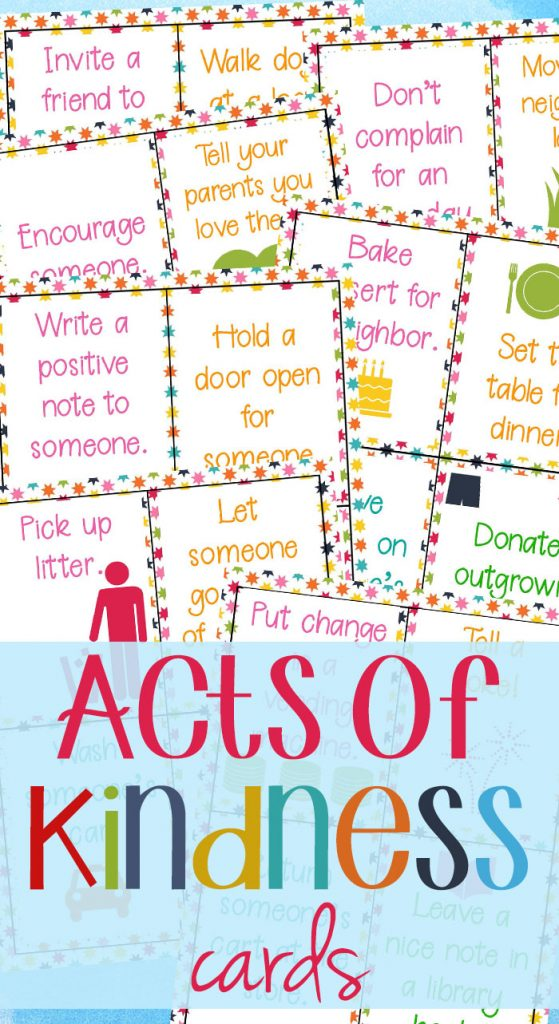 Random acts of Kindness Ideas for Kids, Kindness printables
