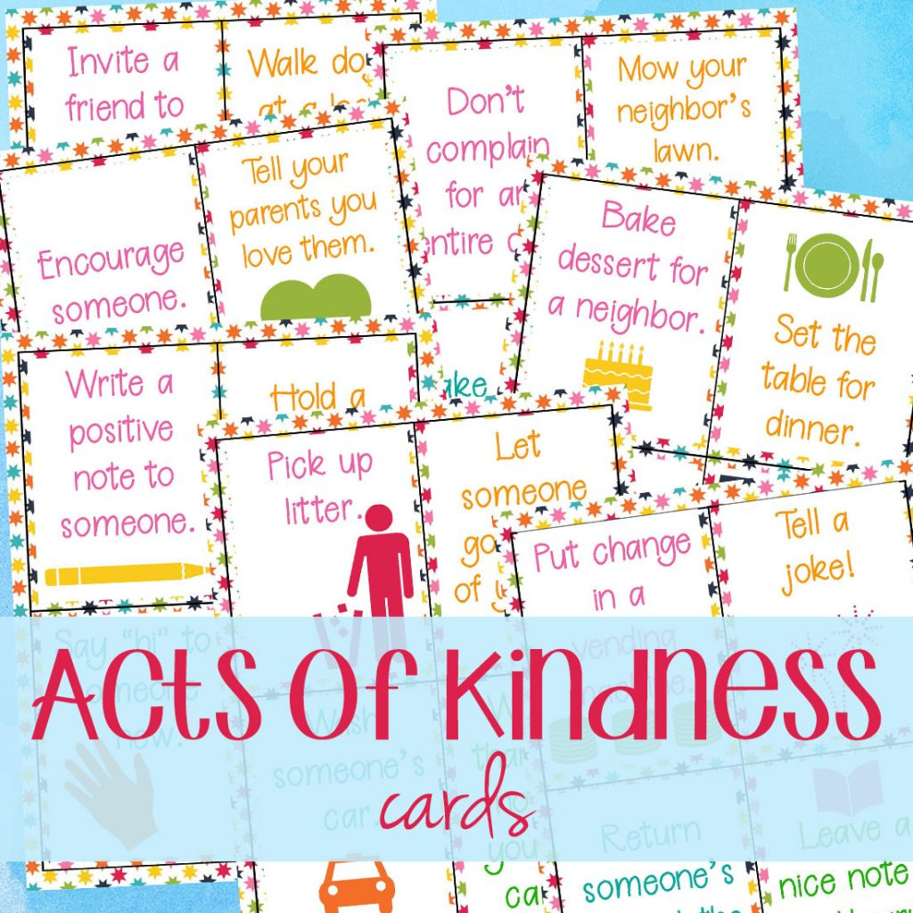 picture relating to Kindness Cards Printable named 64+ Random Functions of Kindness Playing cards for Little ones - Natural and organic Beach front