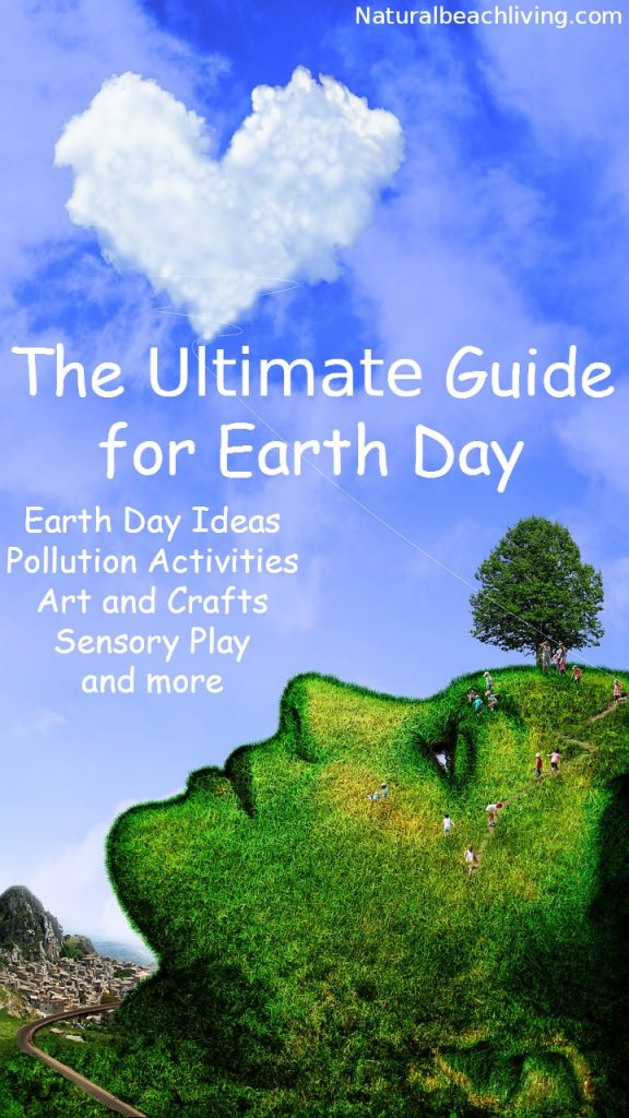 The Ultimate Earth Day Theme Preschool Activities, 50+ Earth Day Activities for Kids, Spring Preschool theme, Earth Day Crafts, Earth Day Art, Earth Day Sensory Play & Earth Day Science Ideas, Earth Day Printables, Earth Day Books and ways to teach Pollution, Pollution Activities and Pollution Printables
