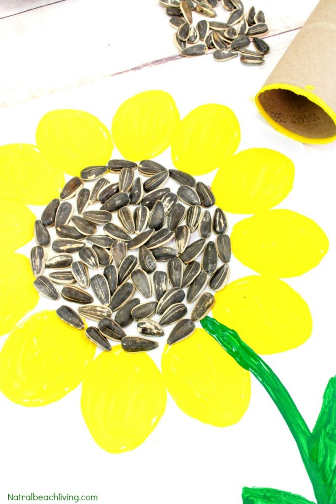 Easy Sunflower Art for Kids, Sunflower Crafts for Kids, Spring is here and this super cute sunflower art would be fun for your children to make! You just need a few items and your kids will be creating a sunflower craft perfect to display, Sunflower activities for Kids, This easy art and craft idea is perfect for any age. #sunflowers #flowercrafts #floweractivities #sunflowercrafts #sunflowerart #artforkids #craftsforkids #flowerart #preschoolcrafts #summercrafts #preschoolart #springactivities