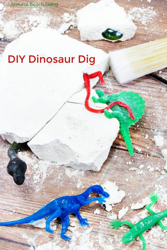 How to Make Dinosaur Dig Excavation for Kids, This DIY Dinosaur Excavation Dig is perfect for a Dinosaur Theme or Dinosaur Birthday party, it's easy to make and the kids love this fun DIY excavation activity, An exciting and engaging homemade geology dig kit would also make a fantastic homemade gift idea, fossil dig activity for kids