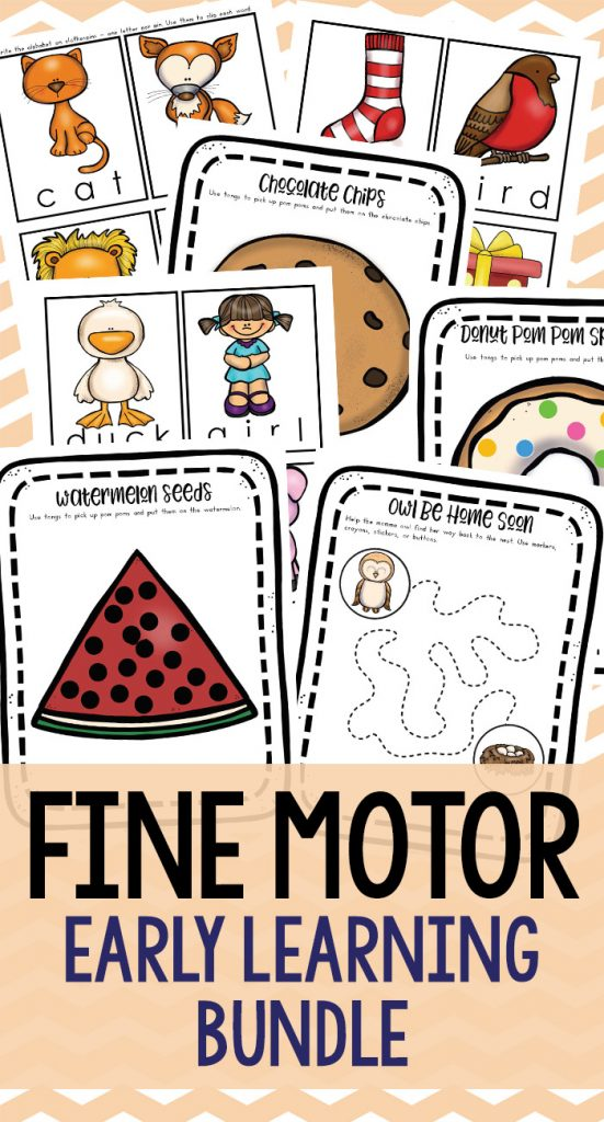 These fine motor skills activities focus on motor skill development by improving the muscles in your child's fingers and hands, strengthening hand grip, and developing hand-eye coordination. Fine Motor Activities for Early Childhood Development including alphabet activities, Handwriting skills and more