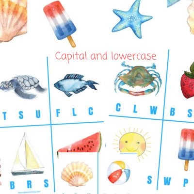 Free Beginning Sound Clip Cards – Summer Alphabet Printables