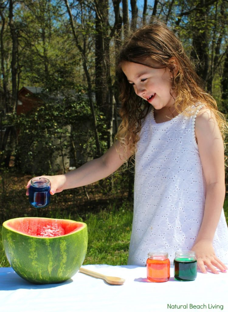 Watermelon Science Activities Baking Soda and Vinegar Erupting Science Experiment, This Hands-on Activity is a perfect Summer Science idea. Kids love this bubbly Volcano Science Activity it also has great Science Videos, Watermelon Activities for Toddlers, Preschoolers, Kindergarten Science, Easy and Fun Science activities for Kids,