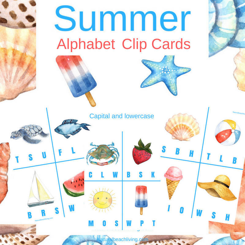 Free Printable Alphabet Clip Cards