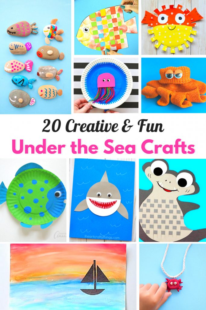 25 Best Under the Sea Crafts for Kids, Ocean Themed Kids Crafts for every age, Perfect Under the Sea Activities for Preschool and an Ocean Theme, adorable ocean animals and under the sea themed activities and projects,