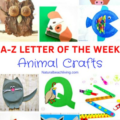 30 Letter of the Week Animal Crafts for Preschool and Kindergarten