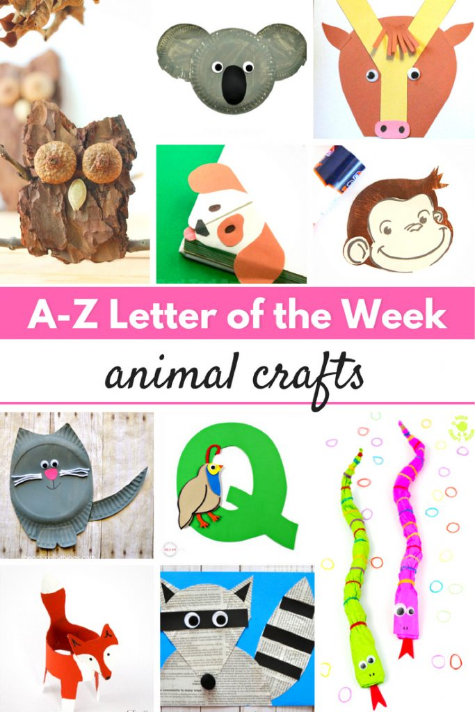 30 A-Z Letter of the Week Animal Crafts, If you are looking for letter of the week crafts to do for Toddlers, Preschool or Kindergarten, you've come to the right place. This page is full of Letter of the Week Animal Crafts for the entire alphabet. Alphabet Crafts, A-Z Letter Crafts, Crafts for each letter of the alphabet