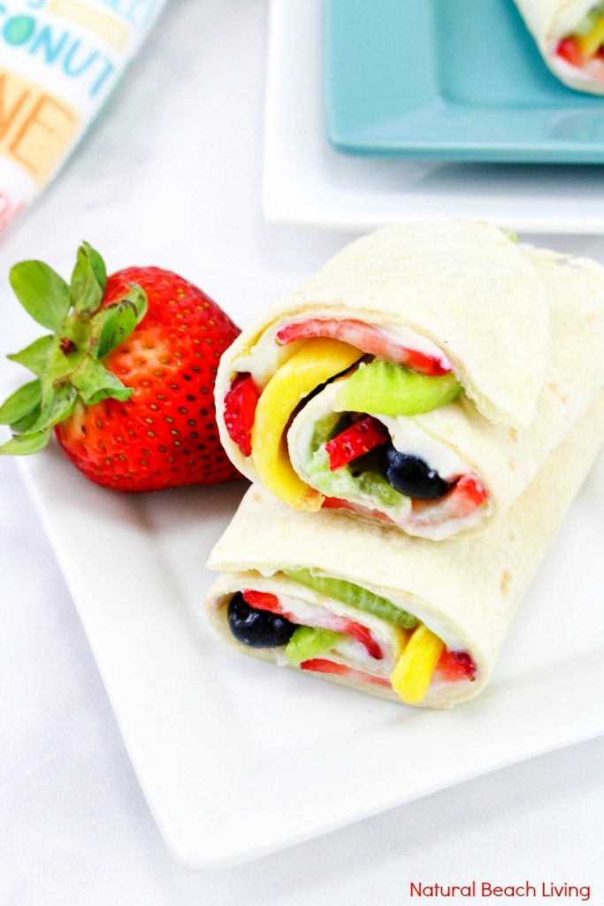 Toddler Lunch Ideas - Healthy Fruit Wrap
