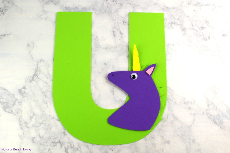 Letter U Craft for Unicorn Preschool Activity with free templates, Alphabet crafts are fun easy and educational, Whether you are looking for Unicorn crafts, a Unicorn Preschool Theme or letter of the week preschool craft u is for Unicorn Your children will love this letter craft with letter u printables.