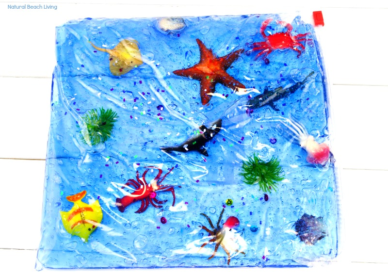 Easy Ocean Life Sensory Bag For Toddlers And Preschoolers Mess Free Themed