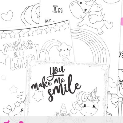 Unicorn Coloring Pages – Free Unicorn Preschool Theme Activities