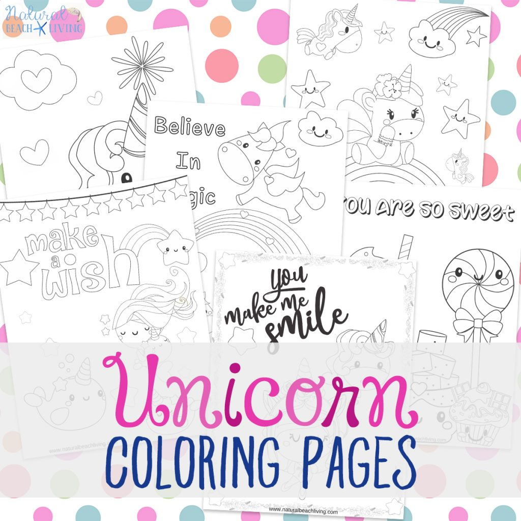 Unicorn Coloring Pages Free Unicorn Preschool Theme Activities