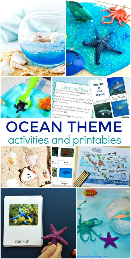 35+ Ocean Theme Activities for Preschool and Kindergarten, Hands on Ocean Activities for kids, ocean theme preschool lesson plans, ocean theme preschool crafts, preschool ocean theme printables, Pre k Ocean Theme Literacy and Math activities, Under the Sea and Ocean Theme Science, Art, Sensory, Fine Motor Activities, Math