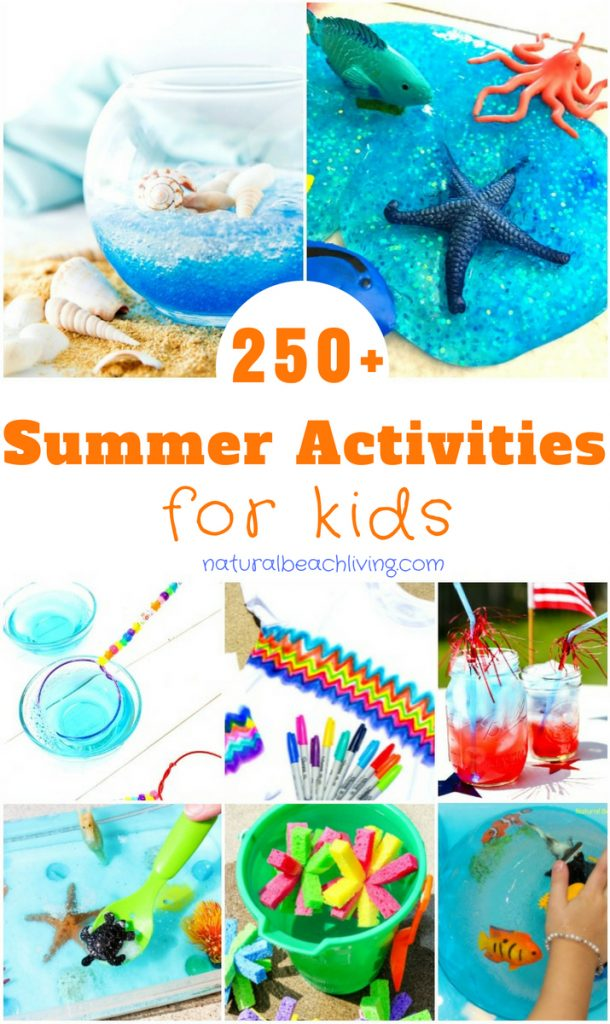 250+ Summer Activities for Kids, Summer Crafts to keep your kids creating, Outdoor activities, Summer Sensory Play, Summer Party Ideas, Fun Summer Ideas for Kids, Outdoor Summer Activities and So much Free Summer Fun